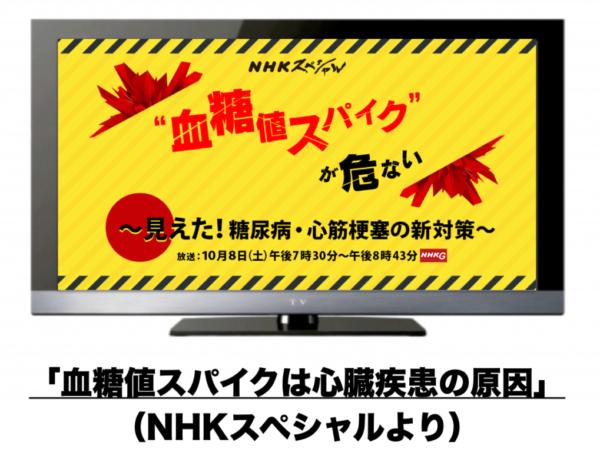 血糖値スパイクを特集するNHKスペシャルのwebサイトのイメージ